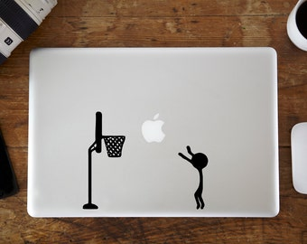 Basketball MacBook Decal