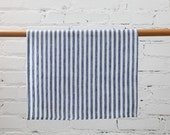100% Linen Blue Stripes Dish Towel