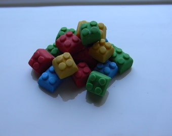 Fondant Lego Bricks