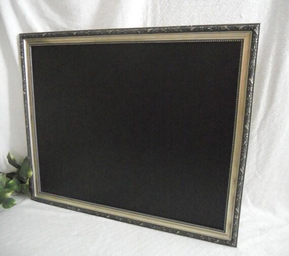 Large Silver Framed Chalkboard Chalkboard By PegsSecondChance