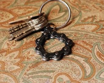 UpCYCLEd bike chain: Key Chain Bottle Opener