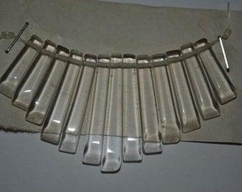 13 Pc. Clear Quartz  Mini Collar - Cleopatra Style