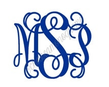 Single 8 inch Personalized Monogram Decal