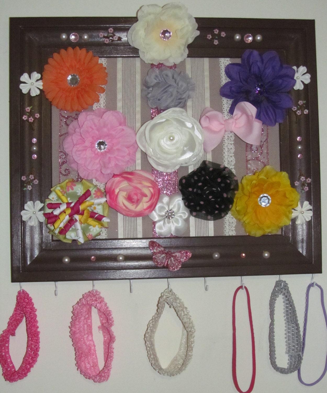 hair accessory organizer hair clip holder hair by. Black Bedroom Furniture Sets. Home Design Ideas