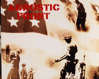 Agnostic Front  Liberty & Justice For   w/ lyric sleeve   LP