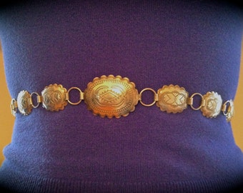 Handmade Native American Sterling Silver Belt