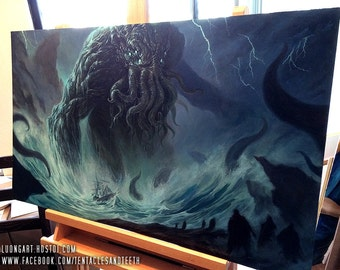 Cthulhu Oil Painting Art Print Reproduction