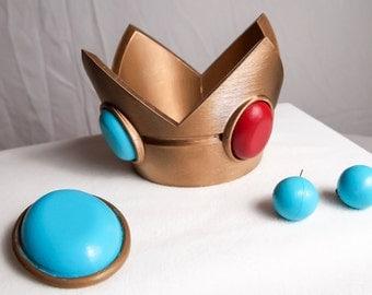 Princess Peach Crown, Earrings, and Jewel