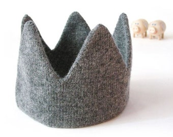 Knit crown hat Etsy