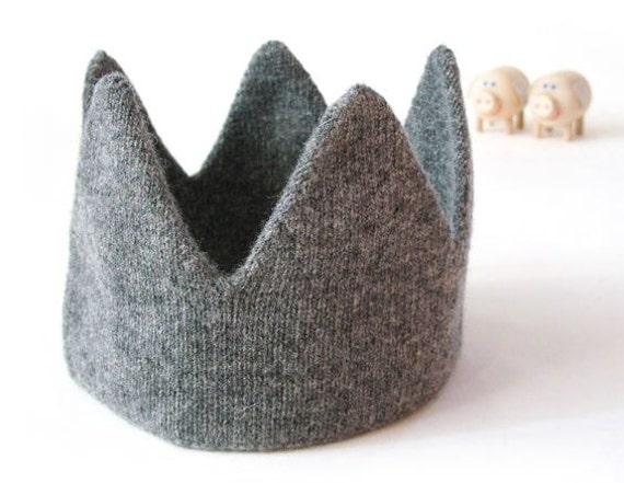 Knitted Baby Crown Pattern : Newborn Baby Toddler Knit Crown Hat Headband head pieces