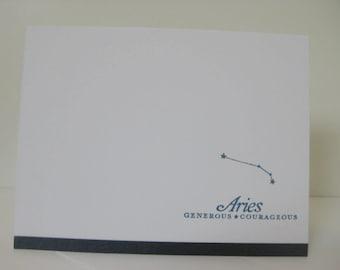 Aries Zodiac Birthday Card, Aries Zodiac Constellation Card, Astrology Sign Card