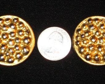 Vintage Goossens Paris Gold Tone Clip On Earrings