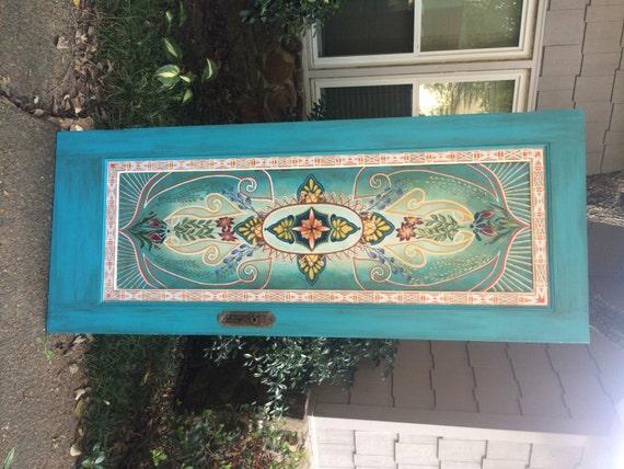 wood door king headboard door headboard hand painted