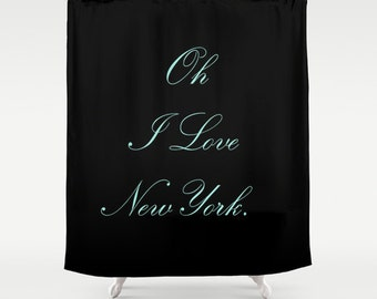 Breakfast at Tiffany's - Shower Curtain - Breakfast At Tiffany's Decor - Fabric Shower Curtain - New York City Shower Curtain