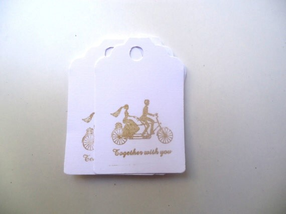 Tags / Favor Bags Tags / Gifts Tags / Wedding Tags 50 pcs.