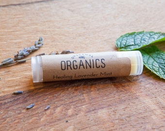 Natural Lavender Mint LIP BALM - 0.15 oz // Organic + Mindfully-Sourced Ingredients