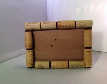Handmade wine cork frame 4x6