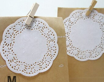 """50 Sheets Rose patterned 3.5"""" 4.5"""" 5.5"""" or 6.5 inch_Circle Paper Doilies_Lace Doilies Paper for scrapbooking cardmaking baking decoration"""