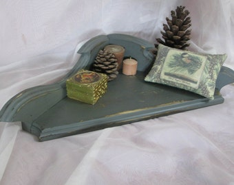 Hanging Corner Shelf, Colonial Style, ~ Painted