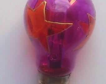 Bulb purple orange stars