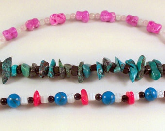 Genuine gemstone bracelets. Designed and crafted by Lynn Marie.