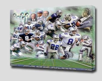 Dallas Cowboys - Giclee Canvas Art - Ready to hang .
