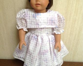 "18"" Girl Doll Spring Dress Lavendar Lilac"