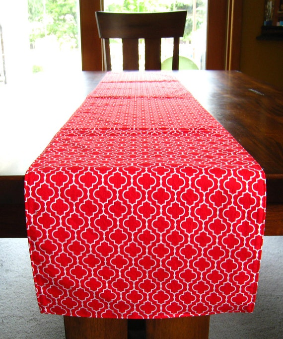 Large table runner 12 x 72 6 ft red for 12 ft table runner