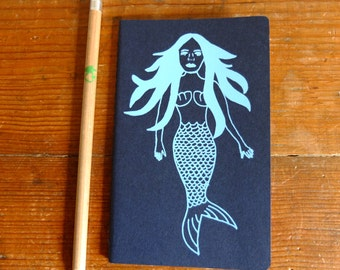 Plain, Pocket Moleskine Notebook, Blue Mermaid