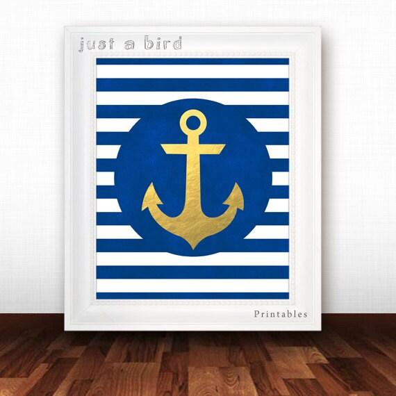 Anchor Decor Nautical Nursery Decor Baby Boy Nursery Print - cheap home decor for nautical nursery