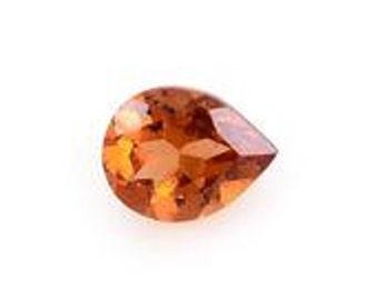 Ratnapura Hessonite Garnet Pear Cut Loose Gemstone 1A Quality 5x4mm TGW 0.25 cts.