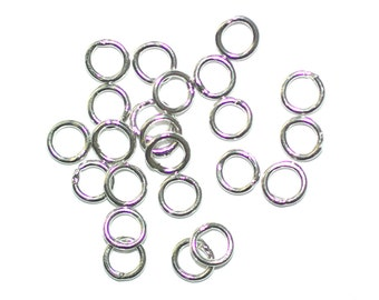 Sterling Silver 925 Closed Jump Rings Closed 0.8x4mm 22 Pieces Per Pack