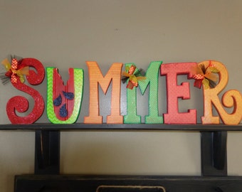 Summer Decor-Watermelon Decor-Summer Letter set