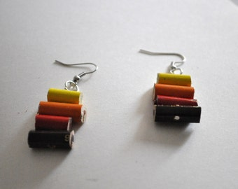 Colored pencils earrings