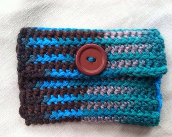 handmade crocheted business/calling/credit card case