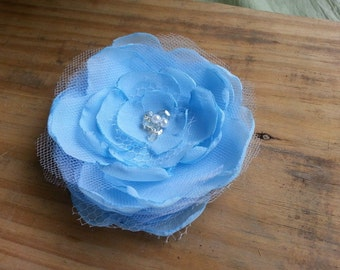 Chiffon Fabric Hair Flower// Women's Hair Flair// Summer Wedding Accessory