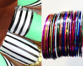 5 Pc Striping Tape for Nail Art, Decoration, and Crafts