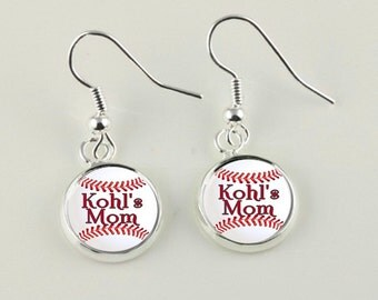 Baseball mom Earrings