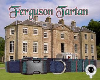 Ferguson Tartan Dog Collar,,, Authentic tartan from the Clan Ferguson