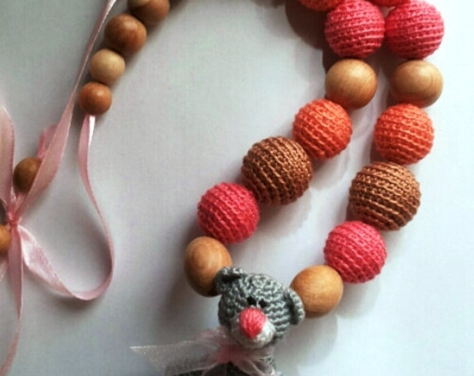 "Eco-Beads for development of fine motor skills babies ""Teddy"""