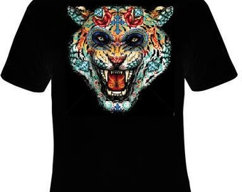 TShirts: day of the dead tiger t shirt tee cool movie shirt