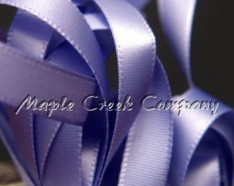 "Periwinkle Iris Double Face Satin Ribbon, 1-1/2"" x 5 yards"