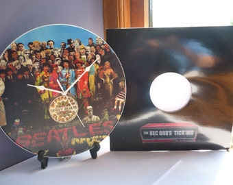Sgt Peppers Lonely Hearts Club Band - The Beatles -  12″ LP Vinyl Record Wall Clock