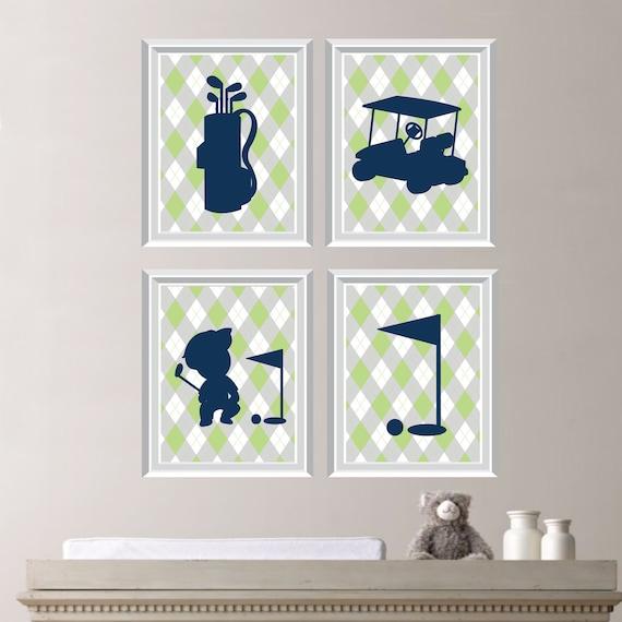 Baby Boy Nursery Art Print Golf Nursery Art Boy Nursery