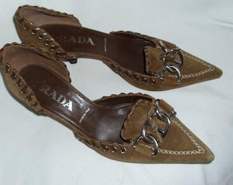 90s vintage PRADA leather shoes