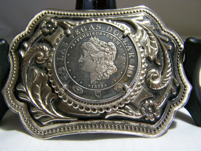 1878 Las Vegas Morgan Silver Dollar Coin Token Belt Buckle