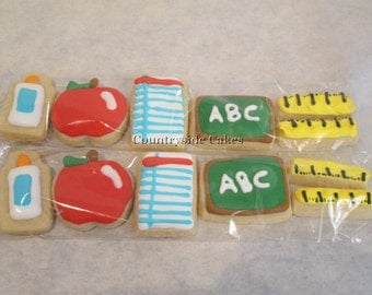 Mini School or Teacher Decorated Sugar Cookies