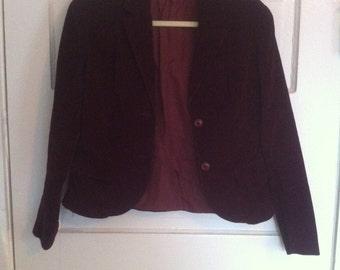 Vintage Sergio Valente Maroon velvet blazer