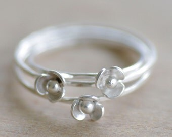 Poppy Rings (stack of 3)