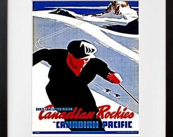 Canada Ski Travel Poster Skiing Art Home Decor Print (TR75)